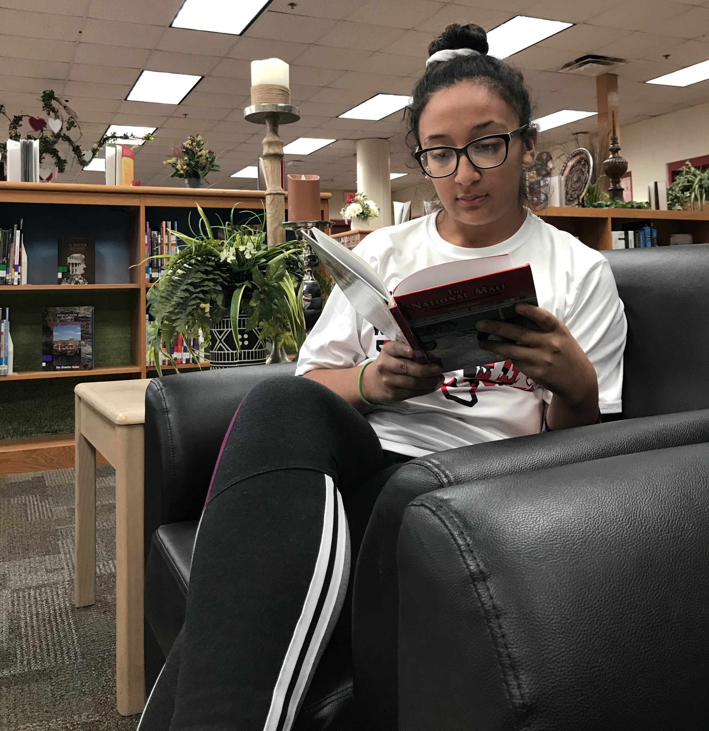 someone reading a book
