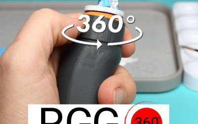 Preview: RGG 360 ° miniature holder in EN and DE