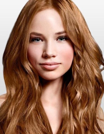 Auburn hair colors with golden brown highlights