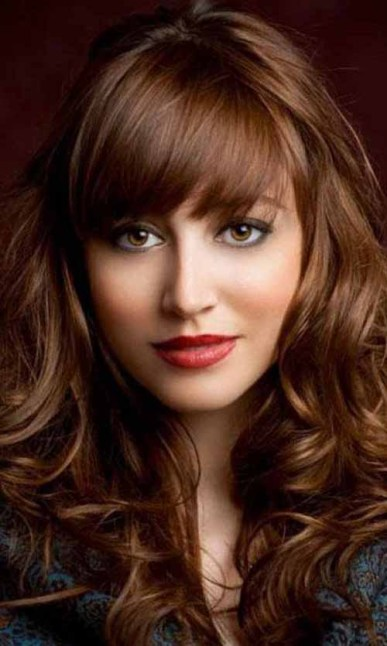 Light brown hairstyles with reddish highlights