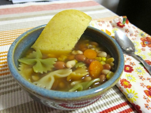 Bean Soup and Cornbread   Red-Handled Scissors