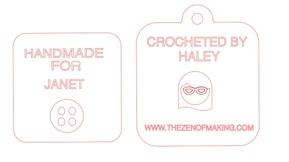 Tags for Custom Projects | Red-Handled Scissors