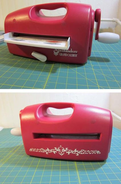 Review: Cutting Fabric with Spellbinders Grand Calibur for Craft Test Dummies | Red-Handled Scissors