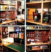 Sunday Snapshot: Small Space Studio Tour | Red-Handled Scissors