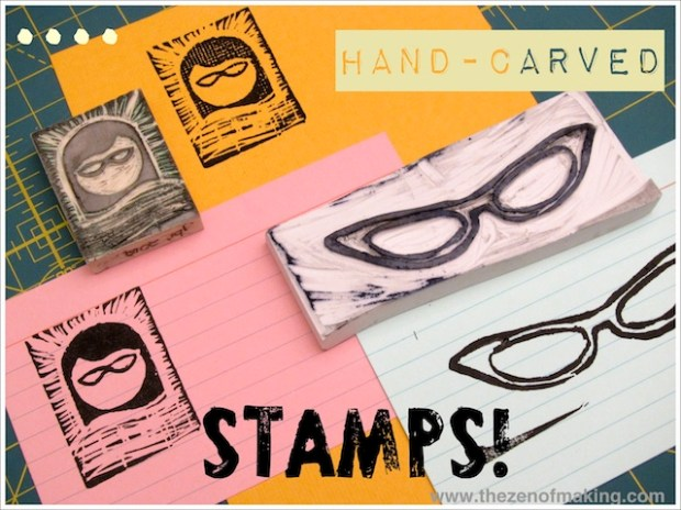 Friends with Stamps | Red-Handled Scissors