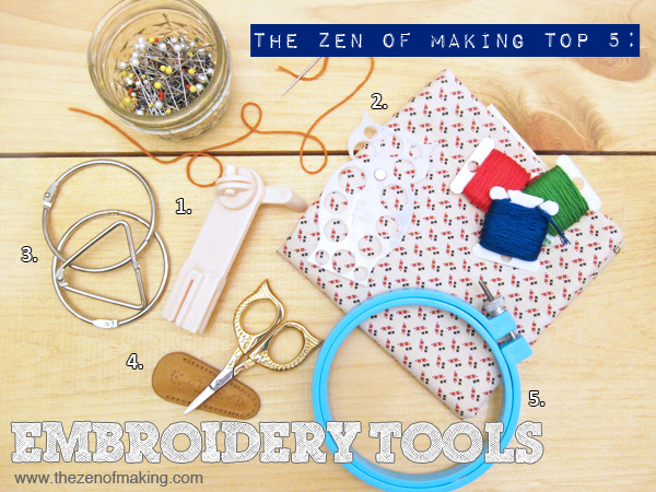 TZoM Top 5: Must-Have Embroidery Tools | Red-Handled Scissors
