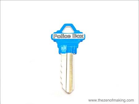 Tutorial: Painted TARDIS Keys | Red-Handled Scissors