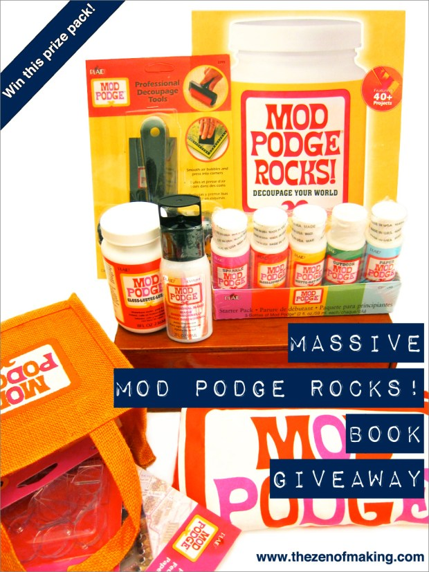 Winner: Massive MOD PODGE ROCKS! Book Review and Giveaway | Red-Handled Scissors