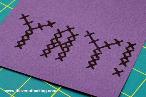 Craft Tip: Perfect Cross-Stitch Stamp Placement | Red-Handled Scissors