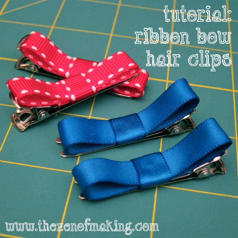 Tutorial: Ribbon Bow Hair Clips | Red-Handled Scissors