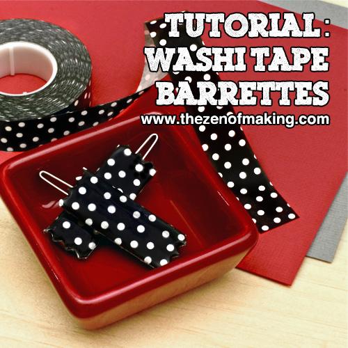 Tutorial: Washi Tape Barrettes | Red-Handled Scissors