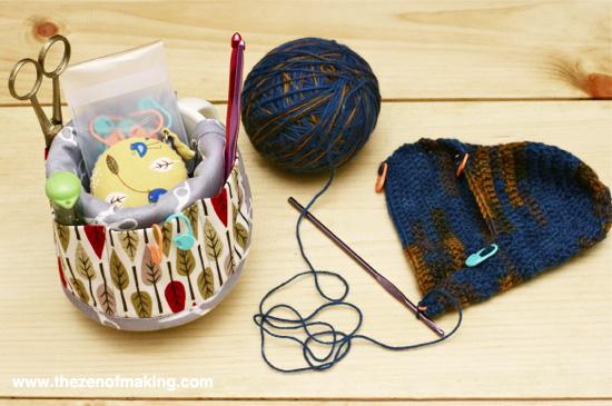 Craft Tip: Coffee Mug Crochet Organizer | Red-Handled Scissors