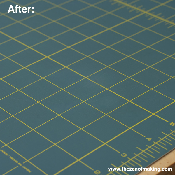 Craft Tip: Clean Up a Stained Cutting Mat | Red-Handled Scissors