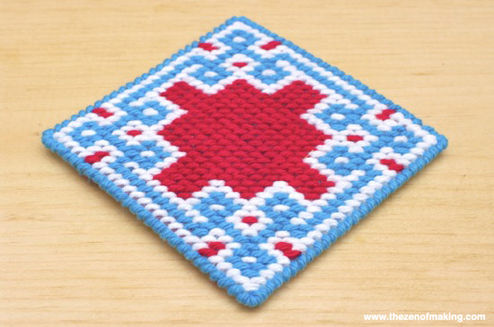 Review: Self-Finishing Needlepoint Coaster Kits from Jenny Henry Designs | Red-Handled Scissors