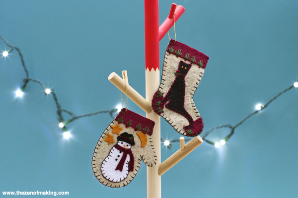 Review: Christmas Woolens Ornament Kit from Rachel's of Greenfield | Red-Handled Scissors