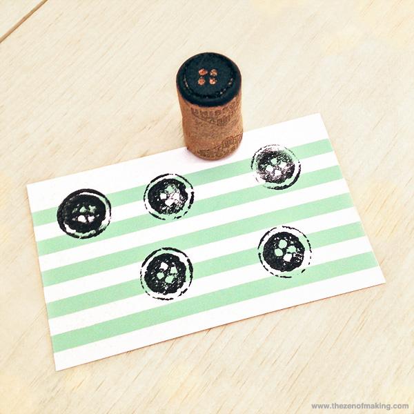 Tutorial: Wine Cork Button Stamp   Red-Handled Scissors