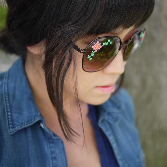 DIY Embroidered Sunglasses from Honestly…WTF