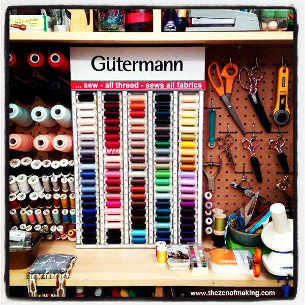 Organize: Gütermann In-Home Thread Cabinet | Red-Handled Scissors