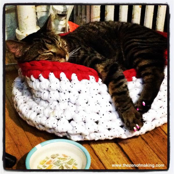 Sunday Snapshot: Crocheted Cat Nap | Red-Handled Scissors