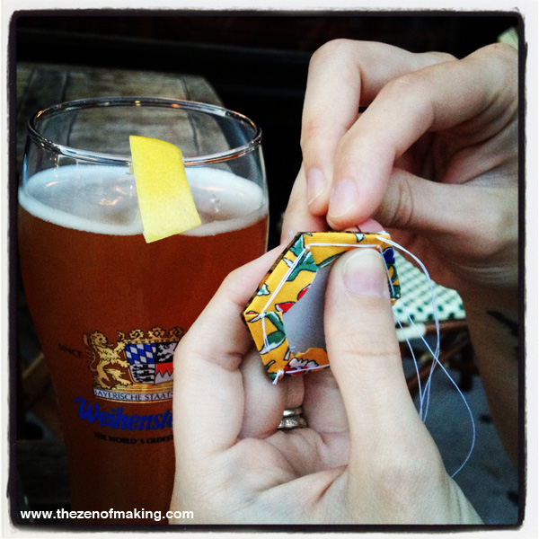 Sunday Snapshot: Booze and Hexies | Red-Handled Scissors