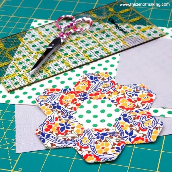 In Progress: English Paper Piecing Travel Kit | Red-Handled Scissors