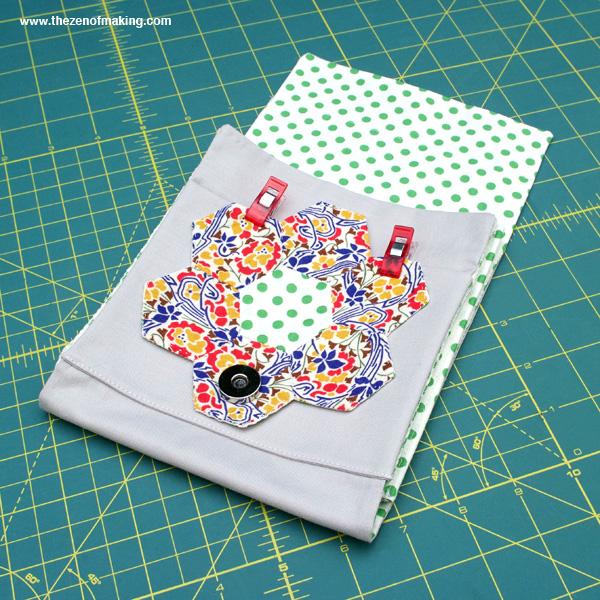 Tutorial: English Paper Piecing Travel Kit, Hexies Part 3 | Red-Handled Scissors