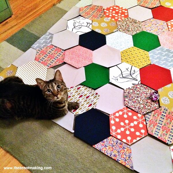 Sunday Snapshot: Pixel the Quilt Helper Cat | Red-Handled Scissors