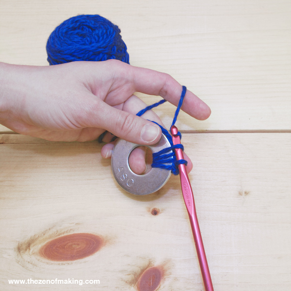 Video Tutorial: Crocheted Metal Washer Pattern Weights | Red-Handled Scissors