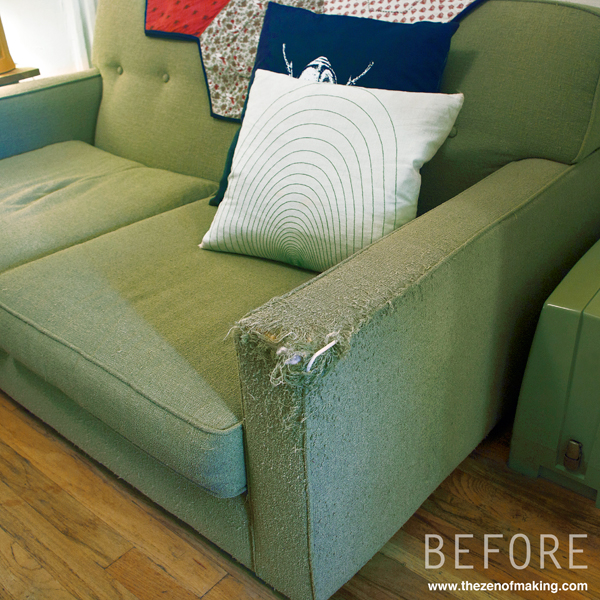 tutorial simple fabric armrest covers
