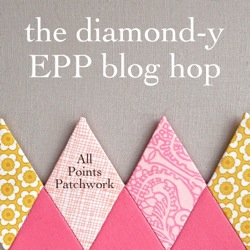 Tutorial: Lengthen a Too-Short Skirt with EPP - The Diamond-y EPP Blog Hop + Giveaway