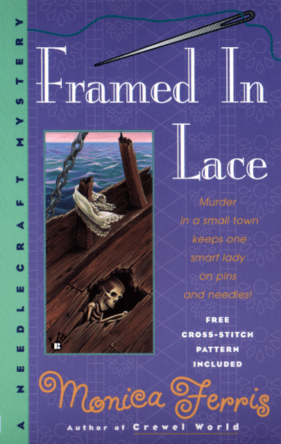 Crafty Audiobook Review: Framed in Lace: A Needlecraft Mystery, Book 2: Return to Monica Ferris' A Needlecraft Mystery cozy mystery series with an audiobook review of Framed in Lace: A Needlecraft Mystery, Book 2!