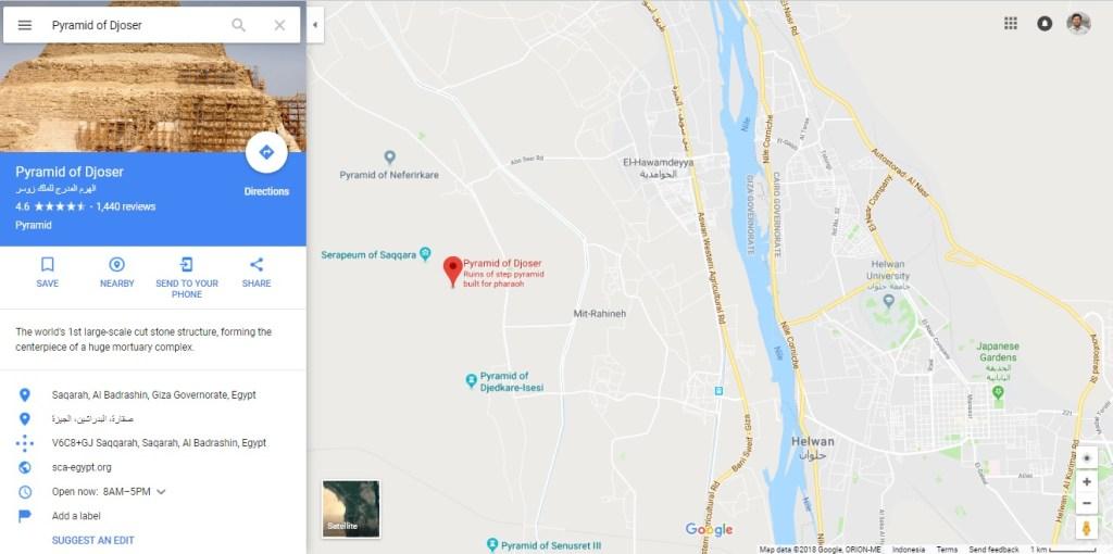 lokasi piramida djoser di mesir