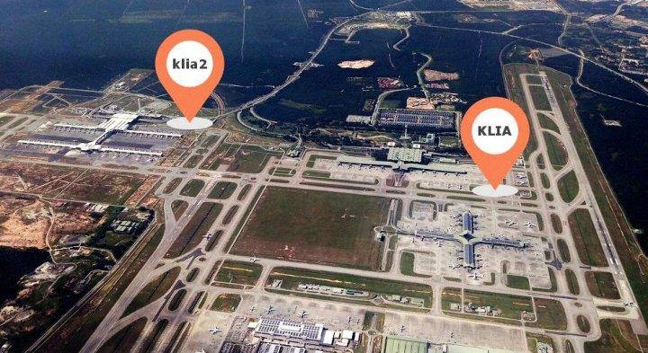 Aerial View Bandara Kuala Lumpur Malaysia