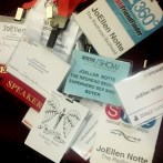 Pile of conference name badges