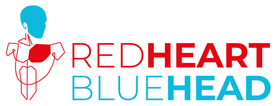 Why attitude matters so much Red Heart Blue Head logo