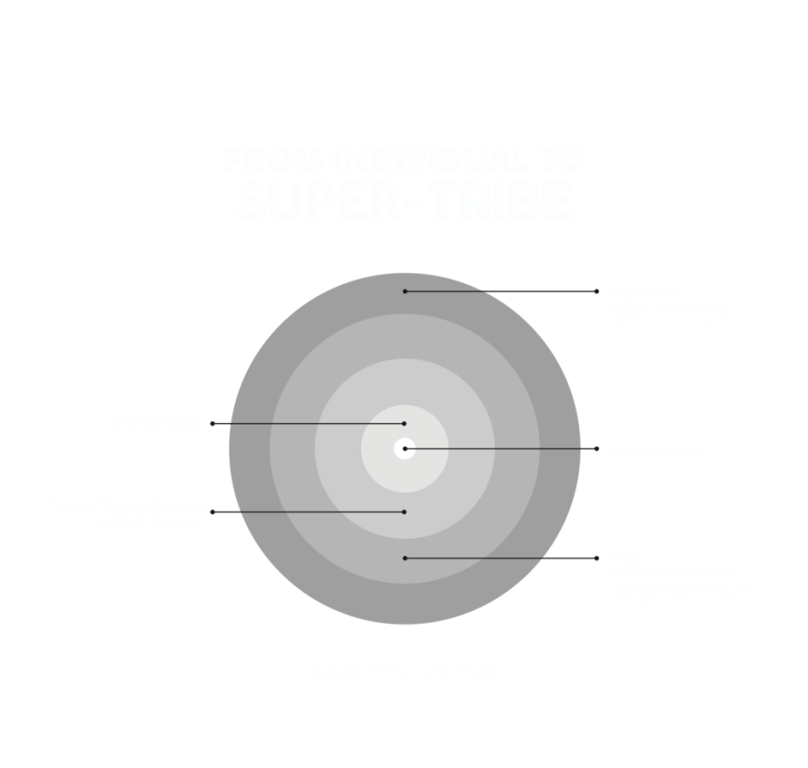 From Individual to Super-tribe diagram