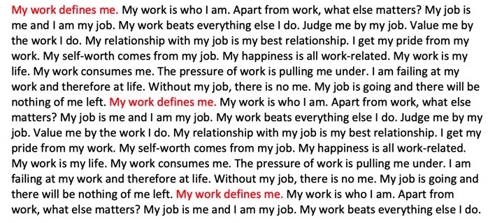 Our jobs don't define us