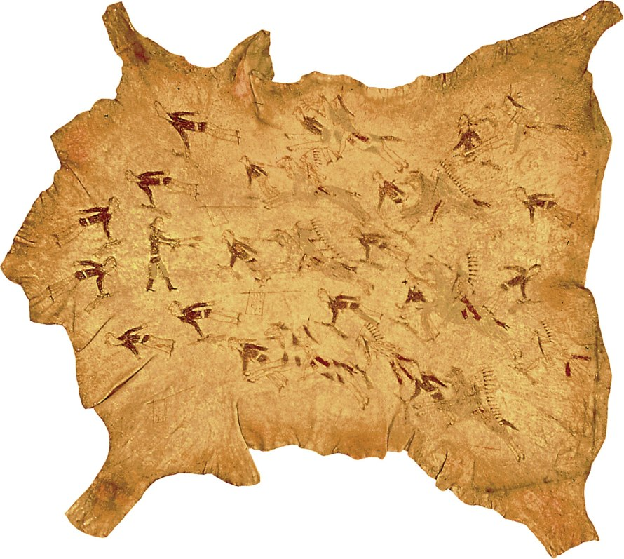 Vision and Division. Buffalo hide from the Battle of the Little Bighorn