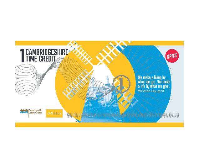 Image of the Cambridgeshire time credit logo