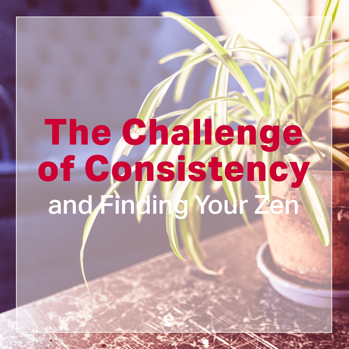 The Challenge of Consistency and Finding your Zen