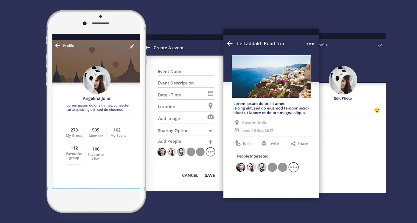 Travel community mobile app