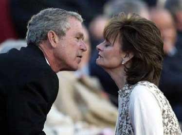 Cherie Blair and Bush