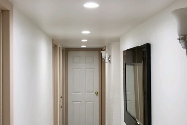customer hallway w/ 6 W lights