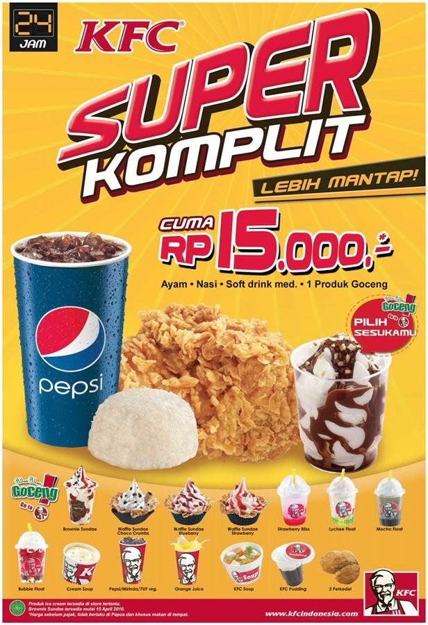KFC Super Komplit Rp 15.000 - redirectline