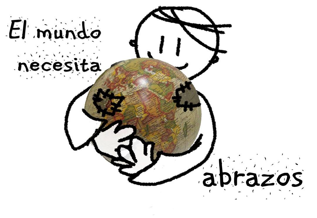 El mundo necesita abrazos (imagen)