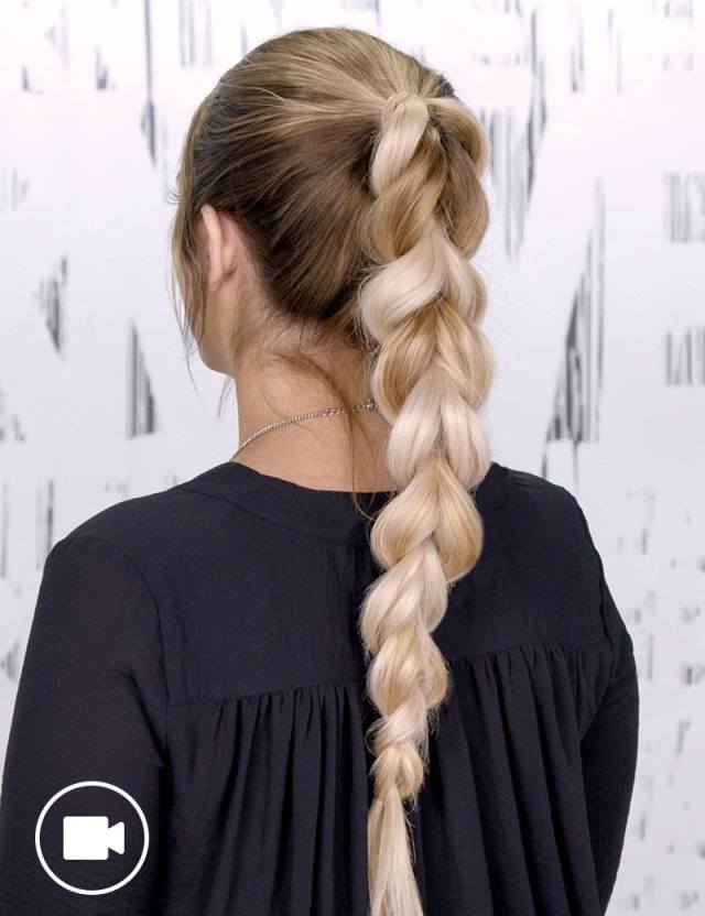braided ponytail hair style for women | redken