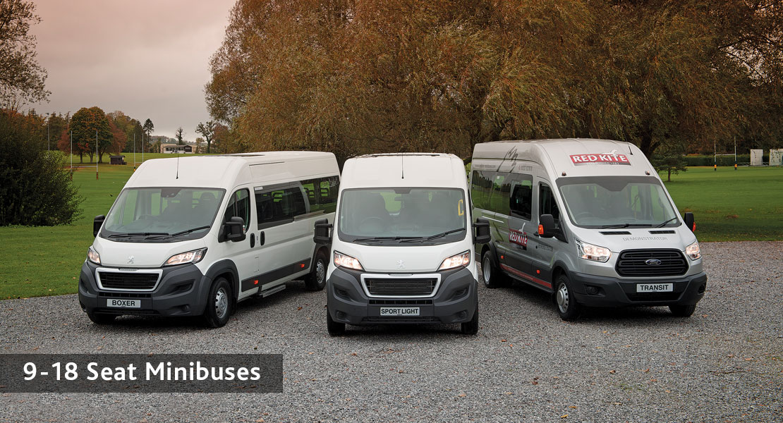 redkite school minibuses 9 to 18 Seats