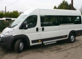 Peugeot Boxer Minibus 17 Seats with floor tracking from Red Kite Vehicle Consultants Ltd.