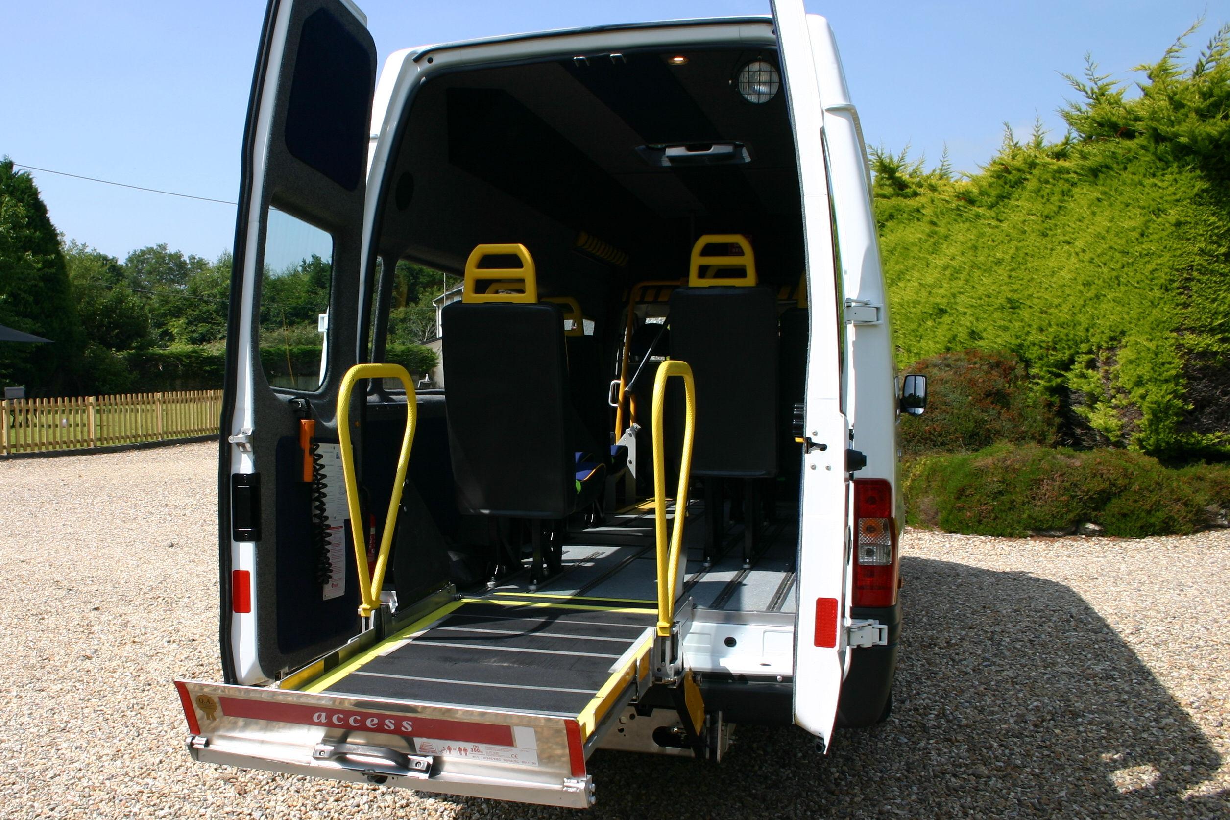 Accessible ford transit minibus redkite minibuses com 01202827678