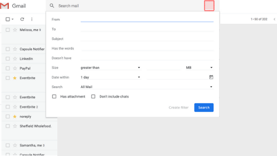 retrieve emails from Google Archive